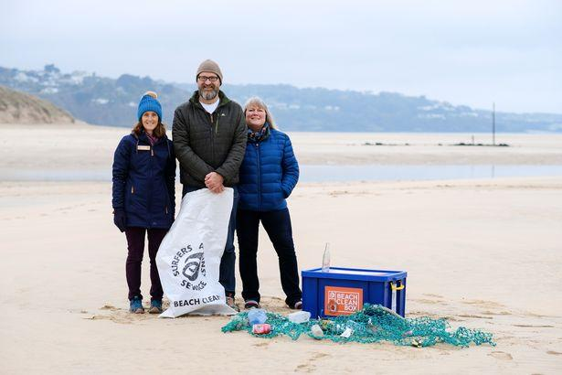 Annette Eatock, Hadden Page and councillor Sophie Johnson are part of Plastic Free Hayle, the latest community in Cornwall to achieve plastic free status (Image: Greg Martin / Cornwall Live)